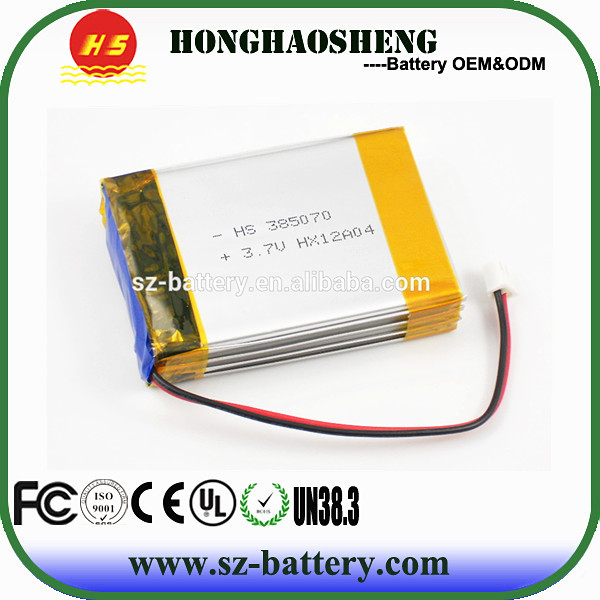 hot sale long cycle life rechargeable ge power lipo battery