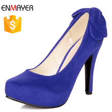 2017 hot sale China factory wholesale manmade suede girl high heels pumps