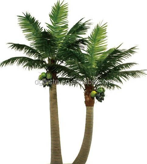 Artificial outdoor coconut palm tree plastic tall tree shopping mall artificial tree