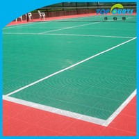 Modified PP outdoor plastic floor for tennis court