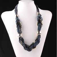 2018 wholesale handmade fashion style cheap price acrylic plastic beads women necklace