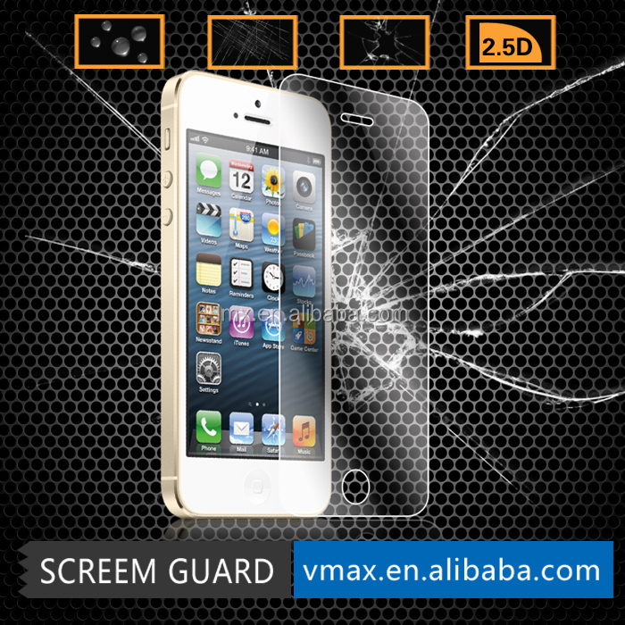 Best Quality 0.15mm corning gorilla tempered glass screen protector for iphone 5/ 5s welcome OEM service