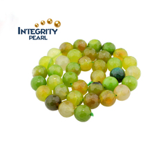4mm 6mm 8mm 10mm 12mm14mm Spring color apple green agate section loose beads Semi-finished beads