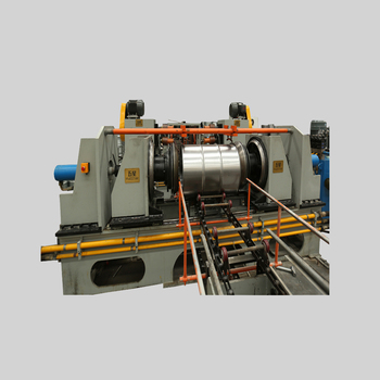 Automatic flanging machine for barrel making steel drums