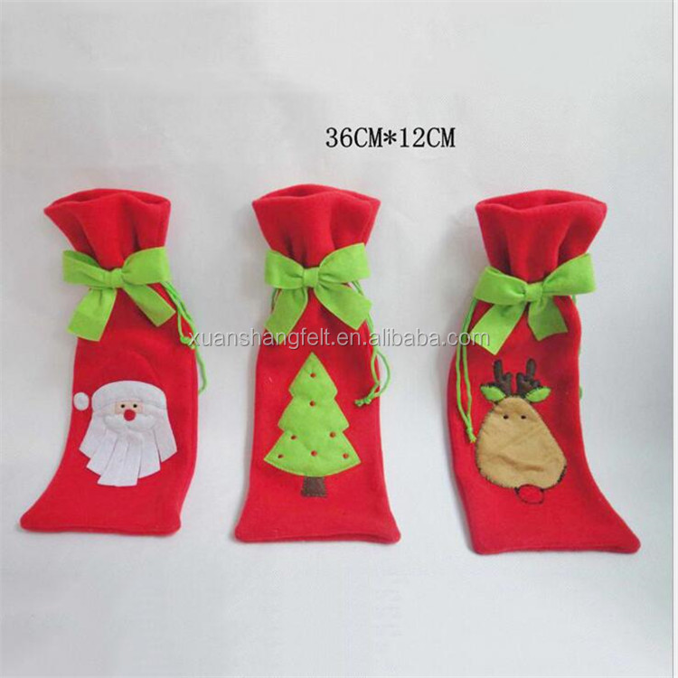 2017 china supplier cheap price felt chrisms stocking gift