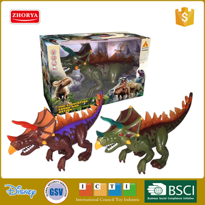 Zhorya hot toys dinosaur world cool plastic battery operated light up dinosaur toys for kids