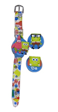 OEM 3D Changeable Top Child Flexible Design Watch with Laser Rubber Cartoon Characters