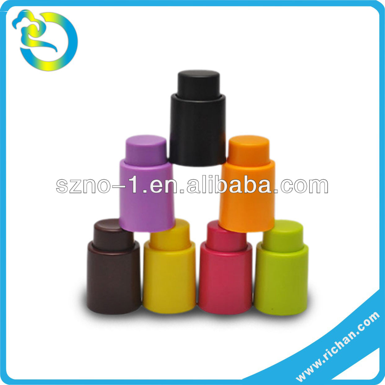Wholesale eco-friendly Food Grade soft personalized make silicone rubber bottle bungs
