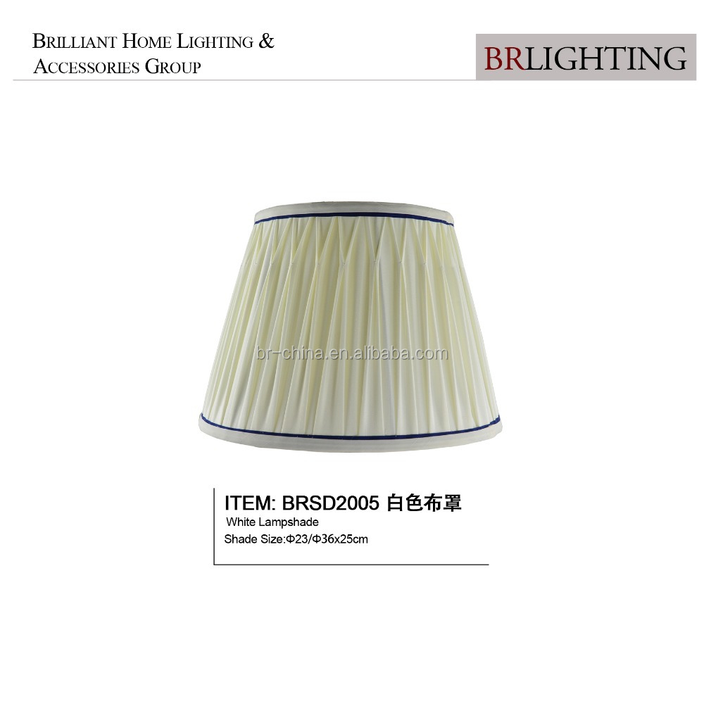 Europe white pleat hot-sell fabric lamp shade for small table lamp