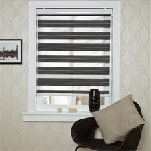 Korean fabric double-layer blackout custom zebra silver curtain blind