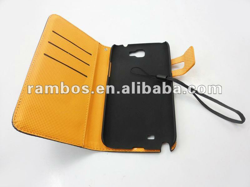 For Samsung Galaxy Note 2 n7100 wave points pu soft leather cover case with credit card holder