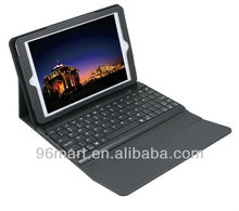 Removable Bluetooth Plastic Keyboard Ball Grain PU Leather Case for iPad Mini