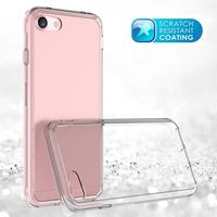 transparent color case for iphone 7, Alibaba China Newest 2in 1 Transparent Clear PC + TPU Case Back Cover for iPhone 7