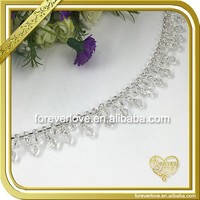 Handmade rhinestone cup chain crystal galvanized chain for ladies belt FC622
