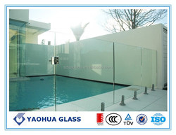 outdoor swimming pool cover glass tempered glass with cutting holes