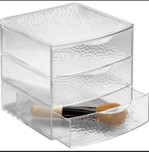 Best hot sell 3 drawer Acrylic perfume Cosmetic Organizer with three Drawers