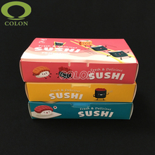 Full color offset printed sushi paper lunch packaging box by Quzhou Colon