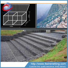 Chinese manufacturers galvanized or PVC gabion mattress wire cages rock wall