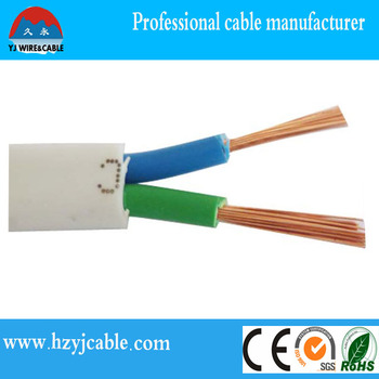 bs standard low voltage copper wire flat sheath electrical wire for machine wiring