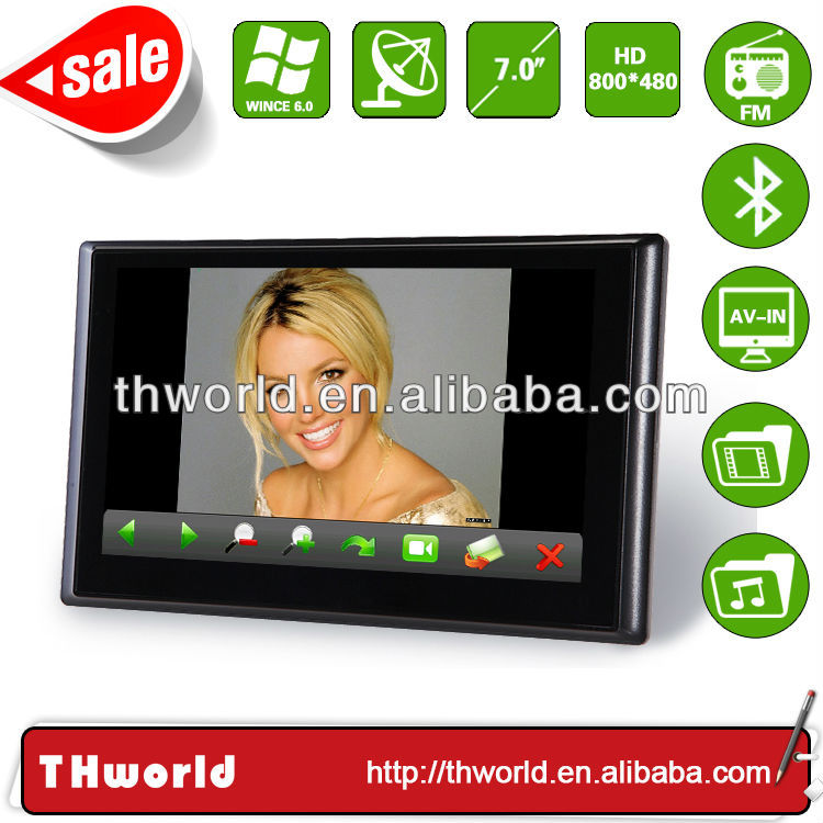 2014 new design super slim 7 inch UAE map sat nav device model no.706