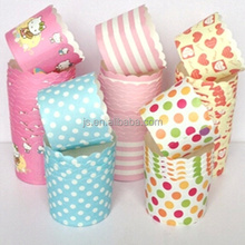 Custom paper greaseproof cupcake muffin baking cups