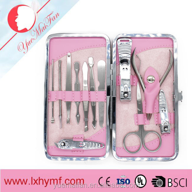 12pcs/set Stainless Steel Nail Clipper Nipper Cutter Pedicure Manicure Set Tools