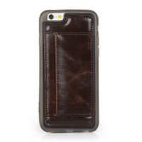 Back cover tpu case with pu leather for 6 iphone case custom