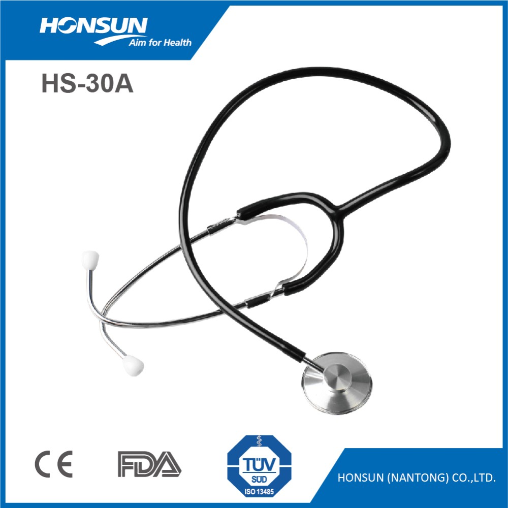 HONSUN Single Head HS-30A Stethoscope Wholesale for Adult with Wholesale Stethoscope ID Tags