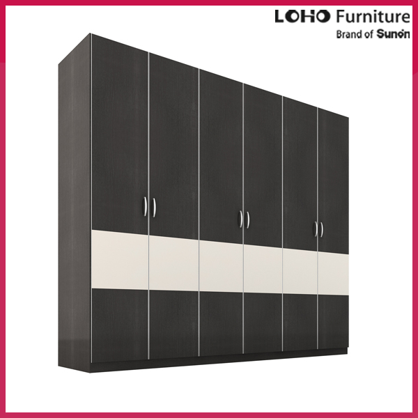 Flat pack furniture modern wooden almirah designs in bedroom wall