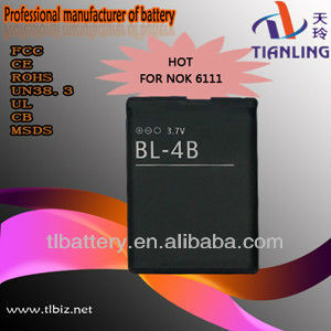 Bl-4b 1200mah Mobile Phone Battery For Nokia 6111 1209 1682 2505 2630 2660 2760 3606