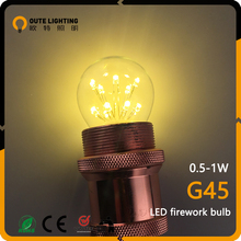 Antique Industrial 0.5W 1W Firework G45 Promotion Price Led Light Bulbs