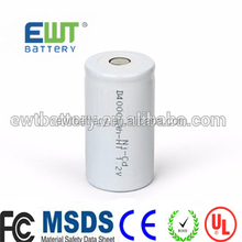 China ni-cd 1.2v 4000mah d nicd rechargeable battery d size ni-cd cell