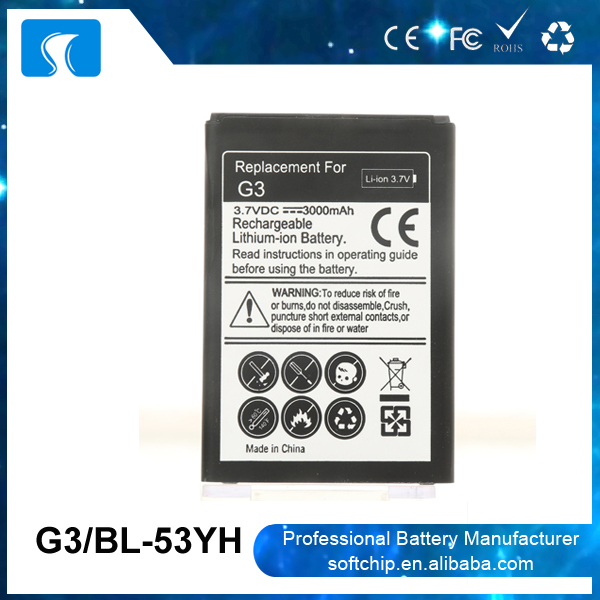 Professional guangzhou factory BL-53YH battery for LG G3