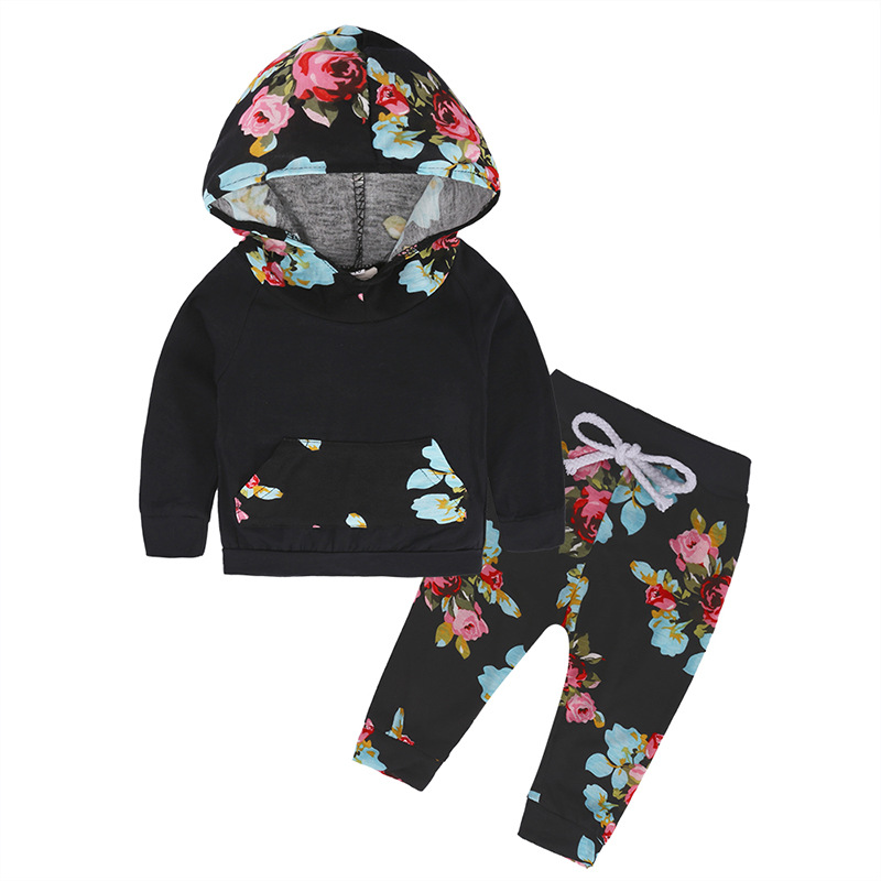 Online Shopping Korea Toddler Products Newborn Baby Boutique Clothing Printed Cotton Set in Stock