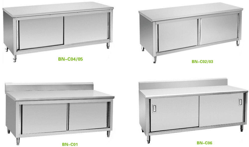 Bn-c07 Stainless Steel Commercial Bench Cabinet,Hotel Kitchen ...