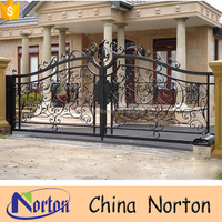 Ornamental house wrought iron gates models NTIG-140A