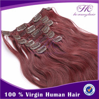 Golden Supplier 100% Virgin Indian Straight Mix Unprocessed Clip On Human Hair Extension For Black Women