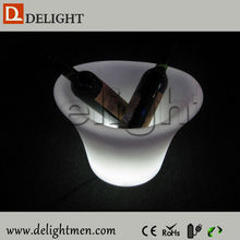 Outdoor furniture hot sale 2 lips remote control RGB color changing led plastic beer bottle cooler with remote control