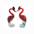Red beautiful glass swan for home decor