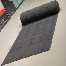 Heat embossed design 3 colors office corridor polyester carpet roll
