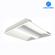 Office lighting 2x4ft 30w 50w DLC Motion Sensor recessed led troffer light