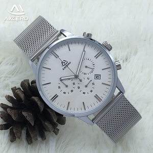 Luxury brand your own custom stainless steel back quartz wrist watch