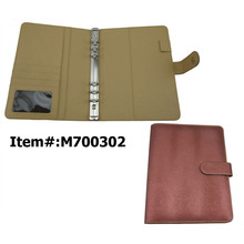 Factory direct selling A5 leather ring binder diary