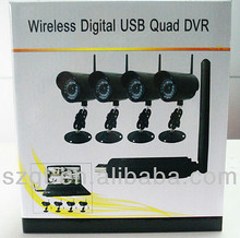 Mini USB Wireless Camera And Receiver PC USB Webcam HD Definition 4 Channel NVR