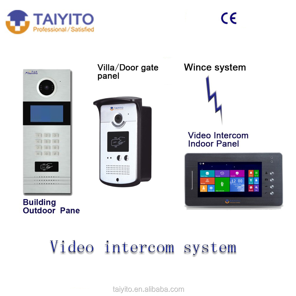 TYT Best selling building 2 wires video door phone for villa with home automation fuction