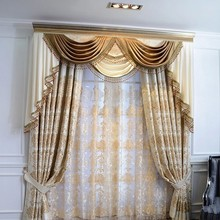 2015 Curtain Classical Charm Design Custom Beaded Valance Curtain