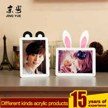 High quality clear acrylic picture frame transparent acrylic sandwich photo frame acrylic picture frame insert