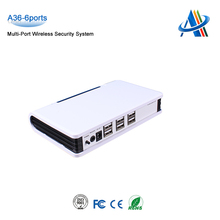 6Ports Anti-theft alarm system devices, security display devices for mobile/tablet,/Laptops,Multi port security alarm system