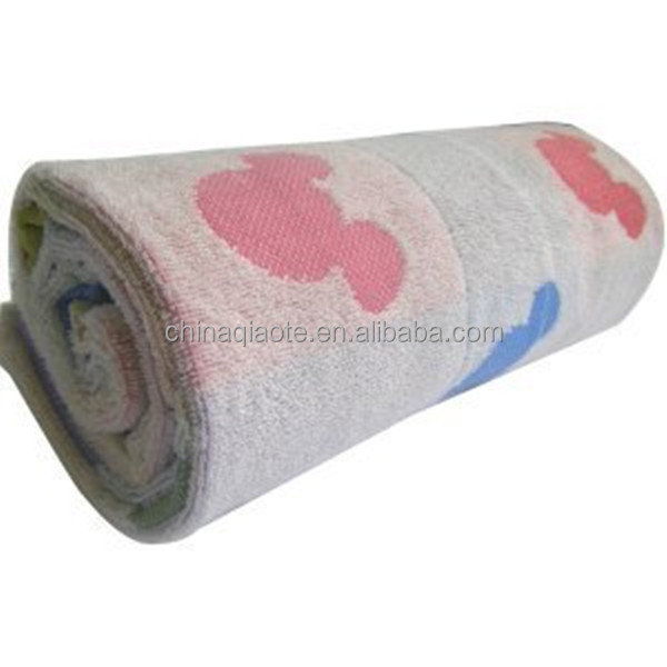 super soft 100% cotton girls jacquard beach towel