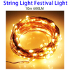 China Factory Christmas 10m 600LM LED Copper Wire String Light Festival Lamp Decoration